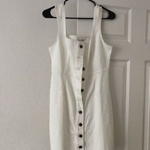 White denim button up urban outfitters dress